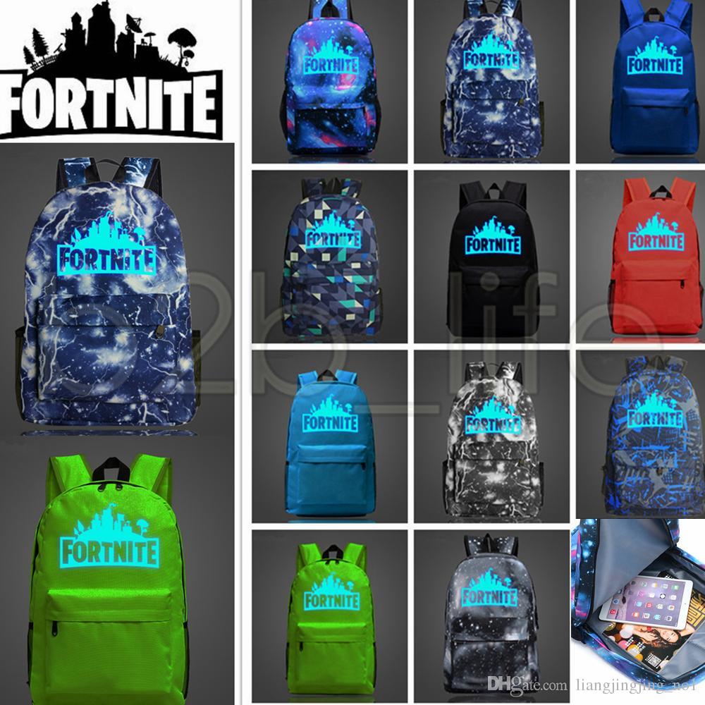11 Disegni 20l Fortnite Battle Royale School Bag Noctilucous Zaino Studente Borsa A Tracolla Zaini Luminosi Borse Outdoor Aaa613 12 Pezzi