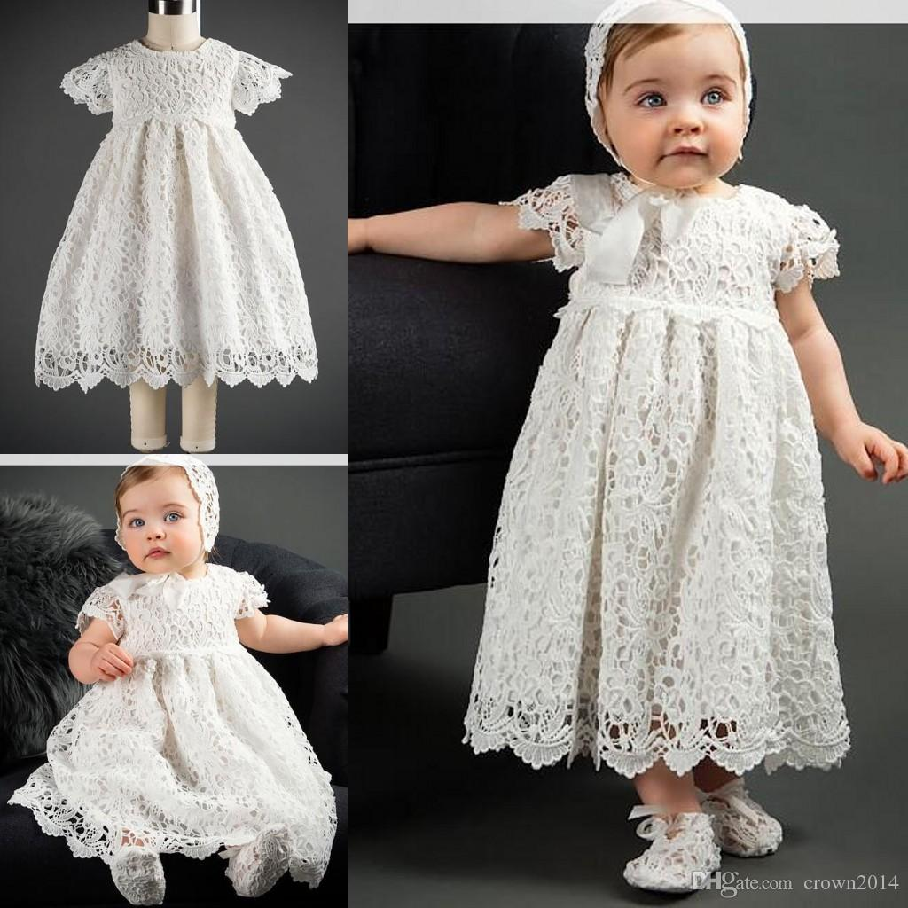 Baby Girl Holy Baptism Gown Christening First Communion Dress Bow ...