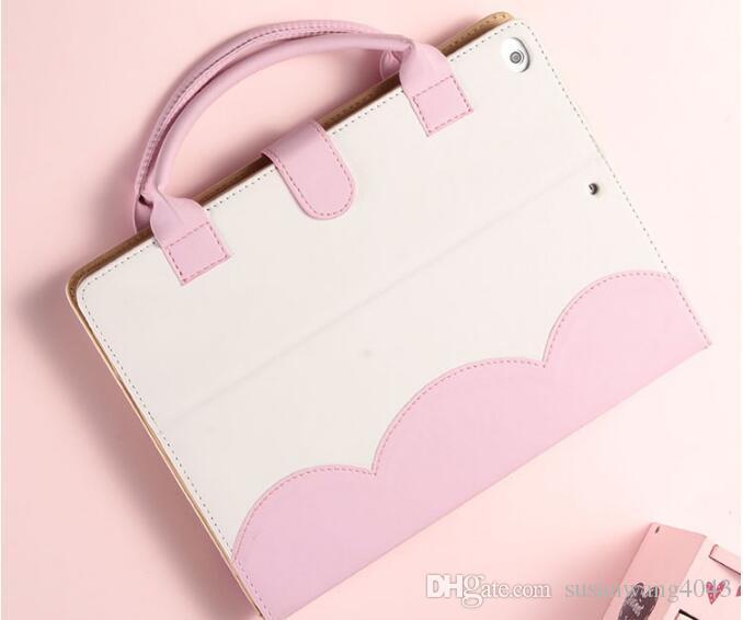 Handbag PU Leather Case For Apple 2018 Ipad Mini Air Pro 1 2 3 4 5 6 Pro Luxury Housing Auto Smart cover Flip Cover Holder GSZ379