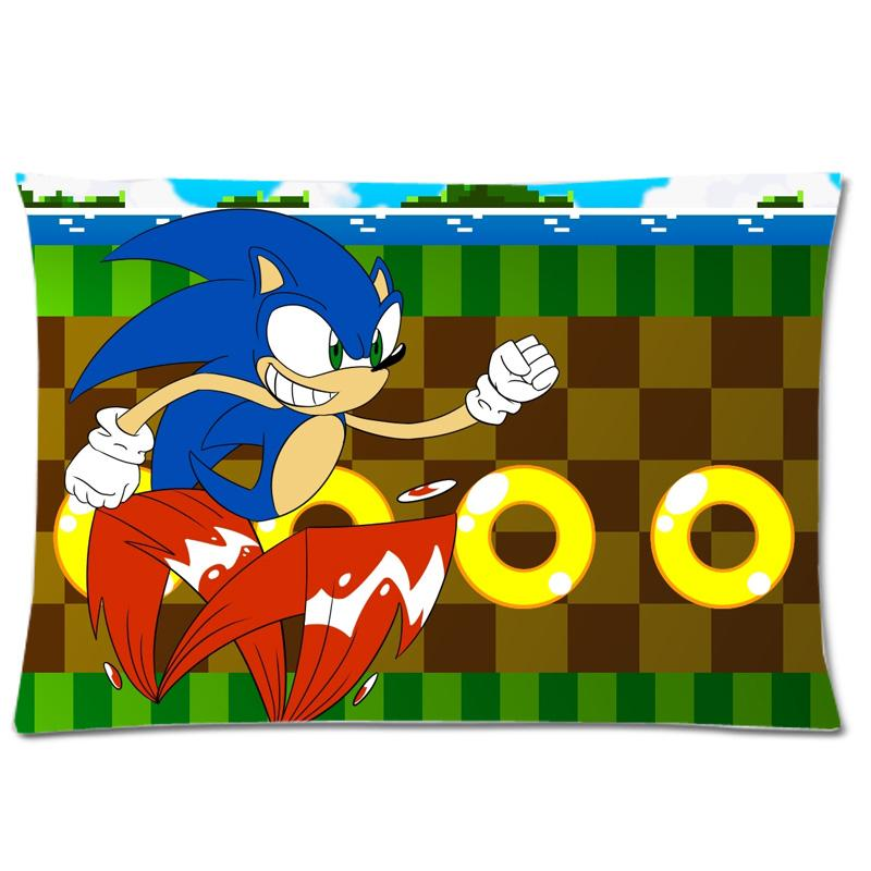 Sonic The Hedgehog Pillow Cover ! Soft Peach Skin Two Side Print ...