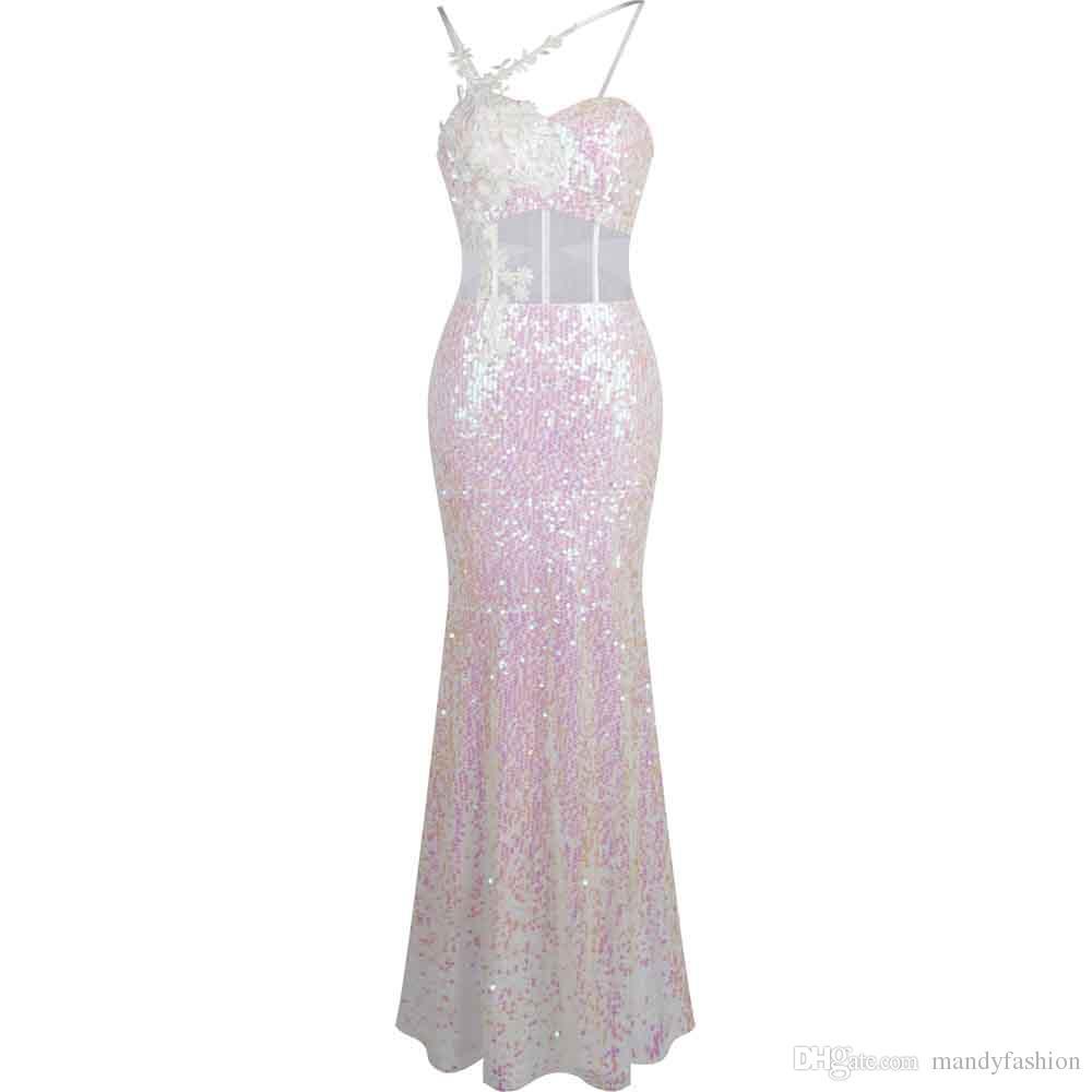 Angel-fashions Womens Peplum Beading Split Prom Dress