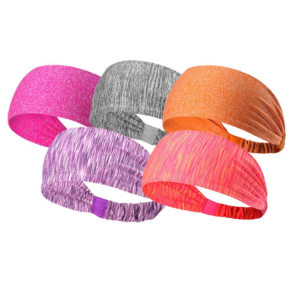 Hot Sale Women Yoga Band Cotton Yoga Hair Band Candy Color Sport ... a8811ada126a