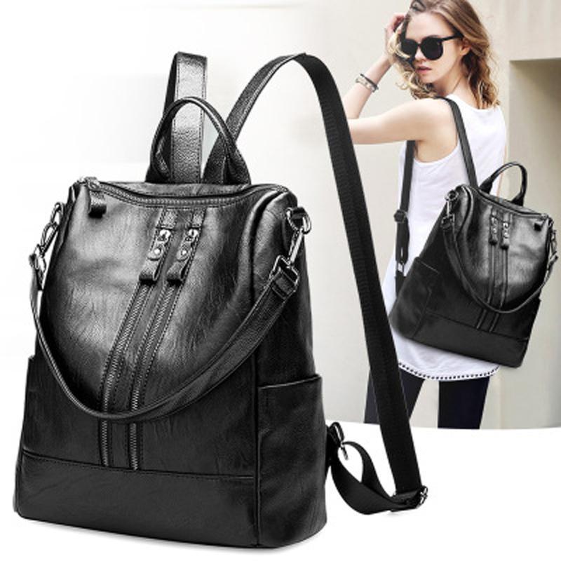 Hot Sale Backpacks Designer 2018 Fashion Women Lady Black Rucksack Bag  Charms Genuine Leather High Quality Ogio Backpack Rucksacks From Yoyood f88d43ba8b05a
