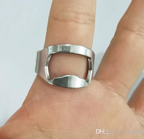 Серебряный цвет кольцо открывалка для бутылок из нержавеющей стали палец кольцо открывалка для бутылок пиво бар инструмент abridor де garrafa cerveja кухня инструменты