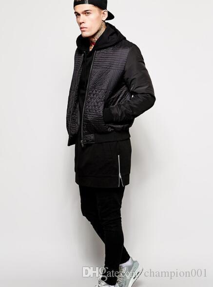 Black mens longline hoodies men fleece solid sweatshirts fashion tall hoodie hip hop side zipper streetwear extra long hiphop