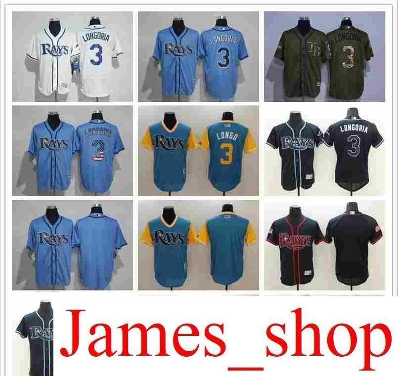 46f6c412f04 ... low cost 2019 2019 mens women youth tb rays baseball jersey 3 evan  longoria 12 wade