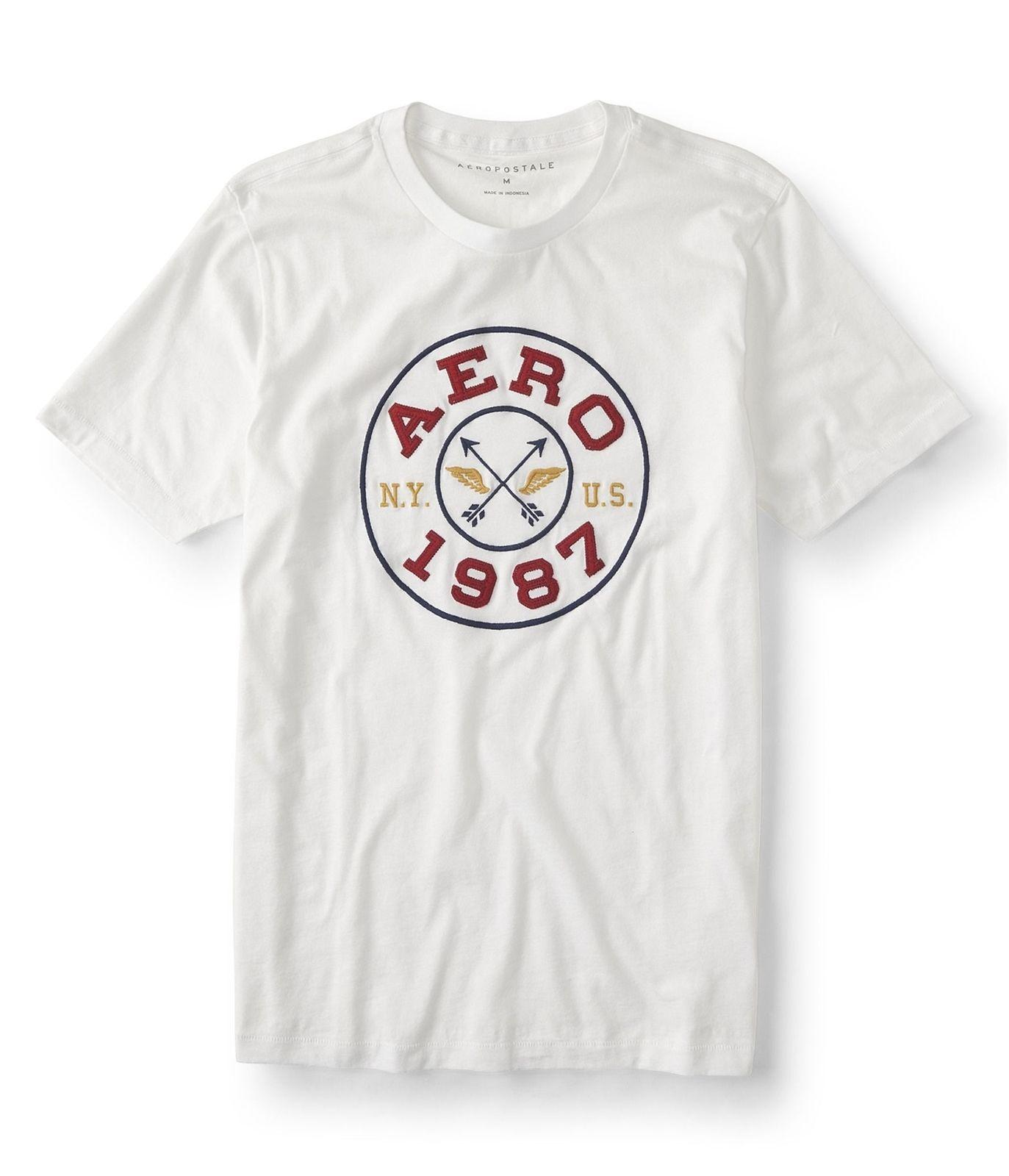 16939c40c71a Aeropostale Mens 1987 Circle Graphic T Shirt 102 M 2018 New Pure Cotton  Short Sleeves Hip Hop Fashion Mens T Shirt Funny T Shirts For Men Make T  Shirts From ...