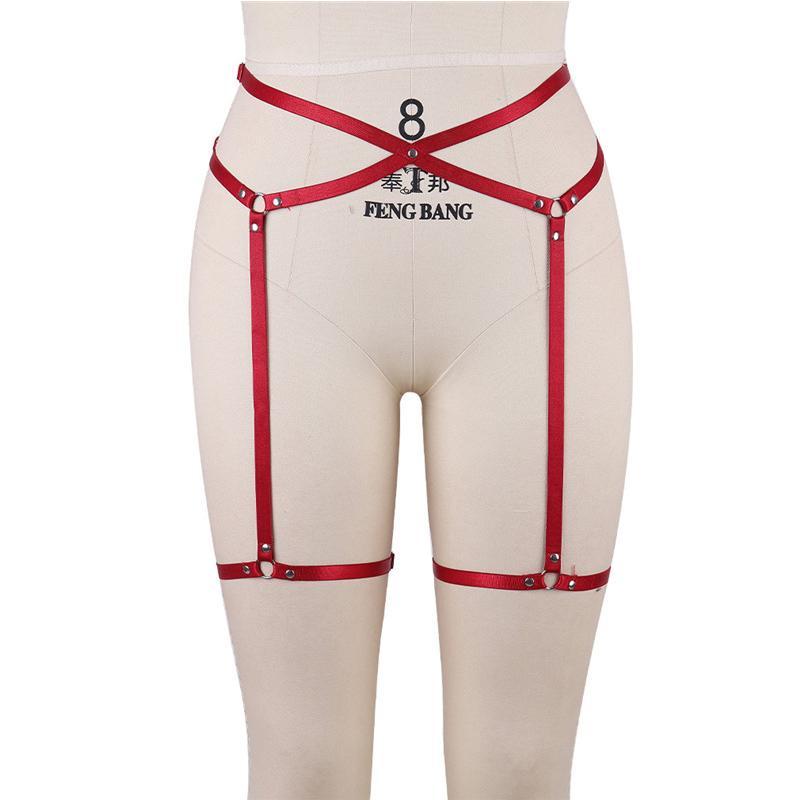 70e59731225 2019 Women Sexy Leg Garter Belt Elastic Cage Body Hollow Leg Belt Suspender  Strap Underwear Strap Leg Slip Clip Red Tempting Garter Sex Toys From  Daylight
