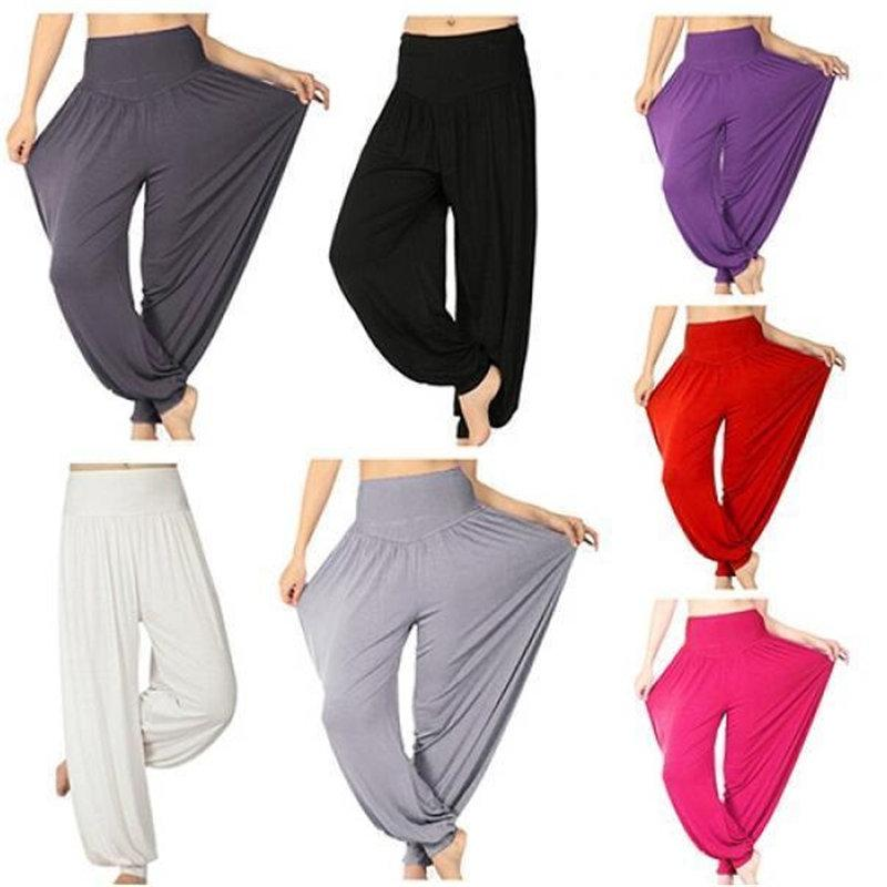 New Women Casual Harem Pants High Waist Dance Pants Woman Fashion ... 2efe54ccc920