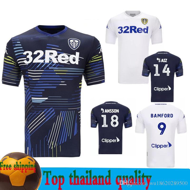 Compre 2018 2019 Camisolas De Futebol De Leeds United 18 19 Camisola De  Futebol De Leeds ALIOSKI JANSSON BAMFORD COOPER SAIZ Camisa De Futebol De  ROOFE De ... f09e471f3a600