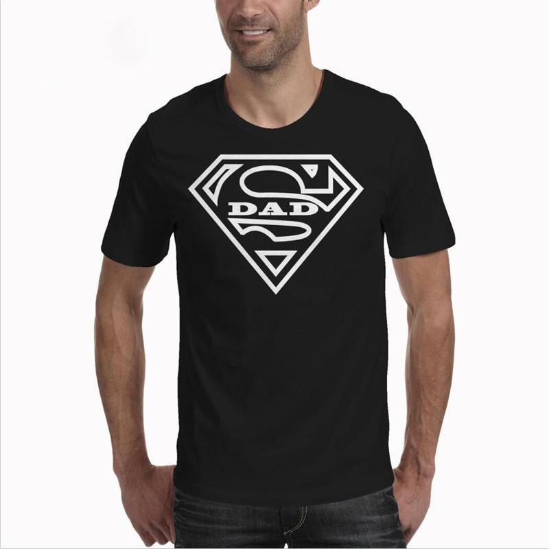 06312453 Super Dad T Shirt Father's Day Gift Vaderdag T Shirt Fathers Day Gift  Summer Fashion O Neck Short Sleeves Us Supermen Tee Shirt