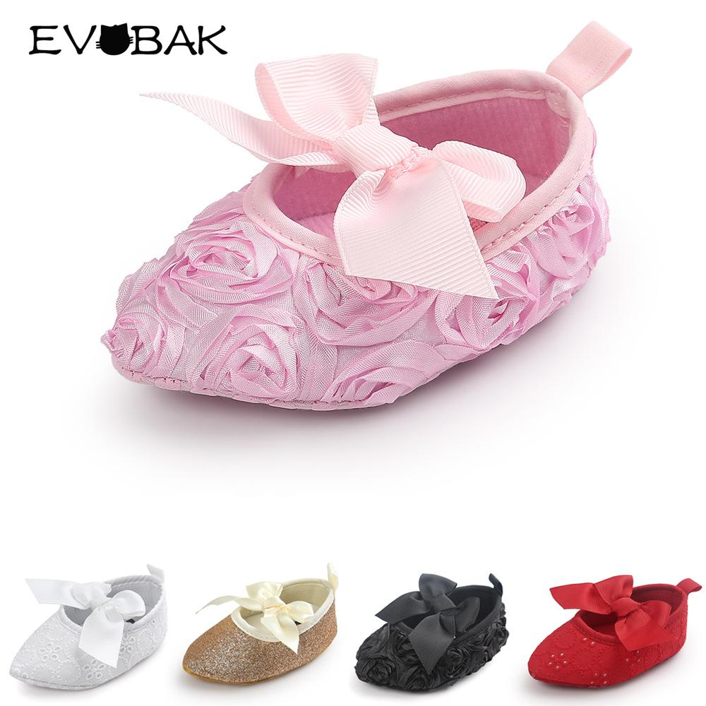 2018 Baby Girl Shoes Spring Autumn Bow Flower Shoes Sweet Fashion