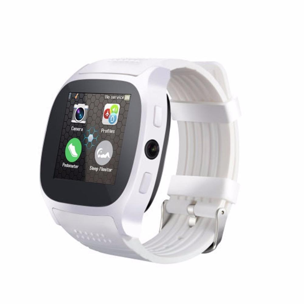 T8 Bluetooth 1.5 Inch TFT LCD Touch Screen Smart Watch With Camera Facebook Whatsapp Support SIM TF Card Call Smartwatch