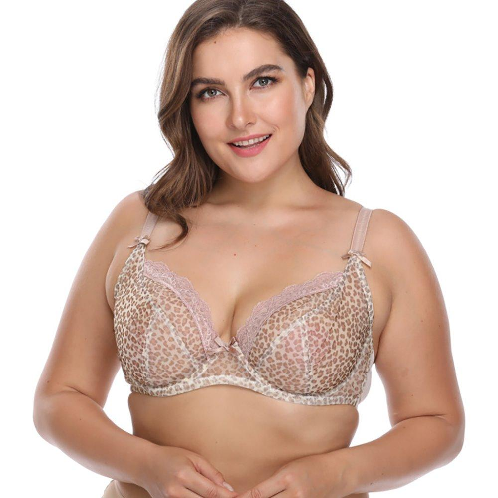 297d9f9579567 2019 New Style Women S Full Coverage Leopard Underwire Non Padded Plus Size  Bra From Morph1ne
