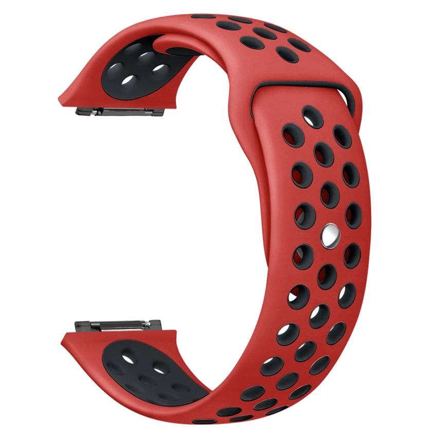 Silicone Sport NK More Hole Breathable Band Strap Replacement Wrist Band Soft Strap Dual Color Cover for Fitbit Ionic Smart Watch