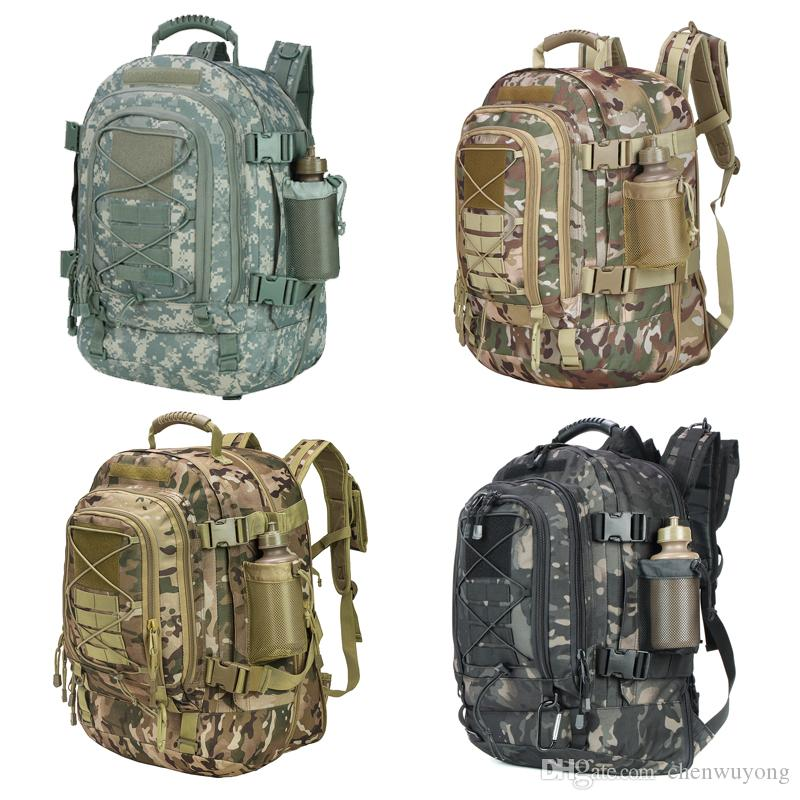 5619d7ed0efc 2019 Military Camouflage 3 Day Expandable Tactical Backpack Large Backpack  Water Resistant For Outdoor Activities