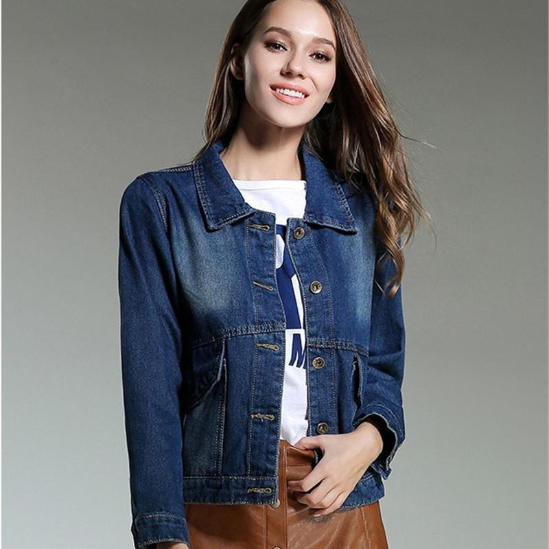 e7ddf99127ab4 Vintage Oversized Jeans Jacket For Women Fashion Trend Loose Denim Jackets  Lapel Neck Long Sleeve Short Jean Coats Coats And Jackets Quilted Jacket  From ...