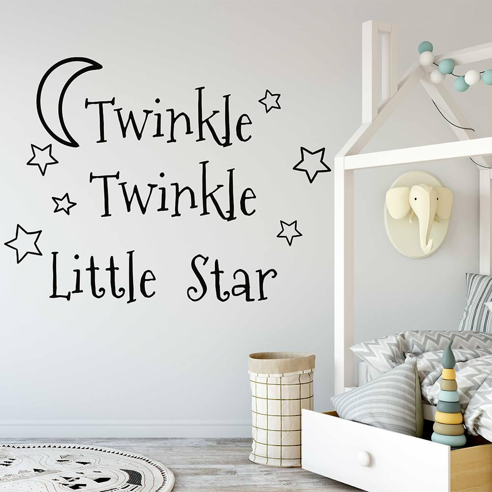 Removable wallpaper twinkle twinkle little star wall sticker for kids room bedroom wall decoration home wall decal home wall decals from onlybrand