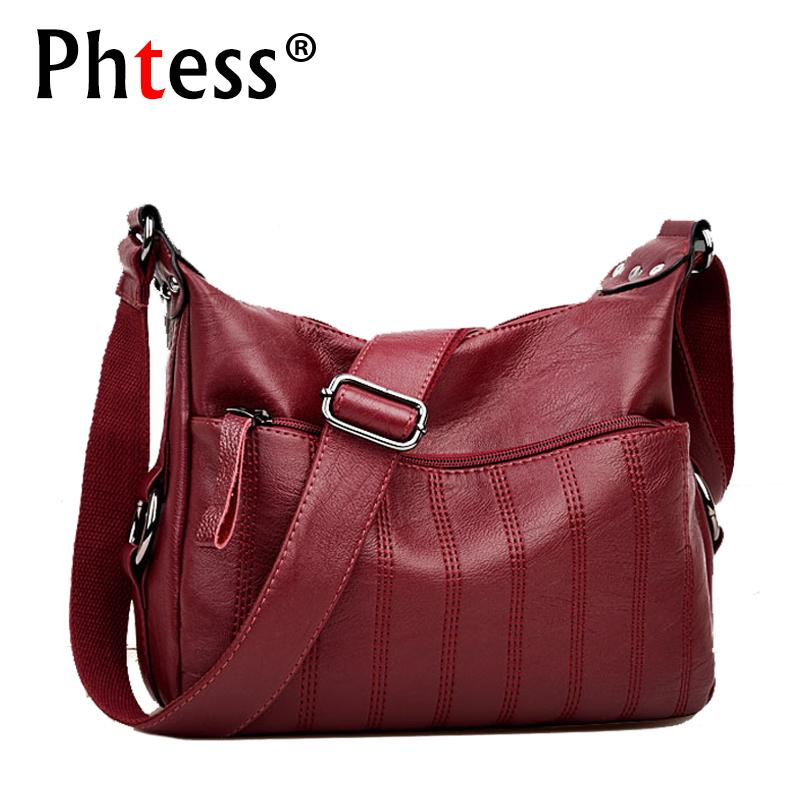 713a1cc3b3 2019 Fashion 2018 Crossbody Bags For Women Sac A Main Soft Leather Shoulder  Bags Female High Quality Handbags Women Messenger Bag Vintage Handbags  Brands ...
