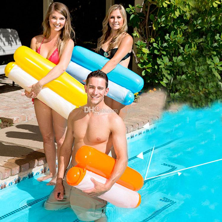 Summer Swimming Pools Inflatable Floating Water Hammock Lounge Bed Chair Summer Inflatable Pool Float Floating Bed WX9-593
