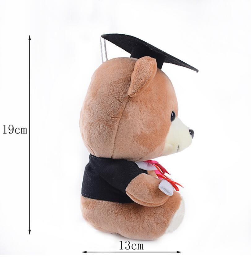 Stuffed Plush Animals Cute Soft Toys Senior Year Bears Kids Room Decoration Graduation Present Baby Doll Toy