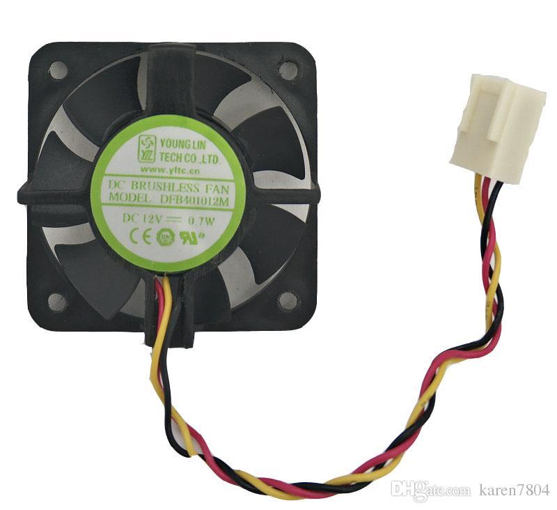 يونغ لين DFB401012M 40 * 10MM 12V 0.7W 2wire 3wire مزدوجة الكرة مروحة التبريد