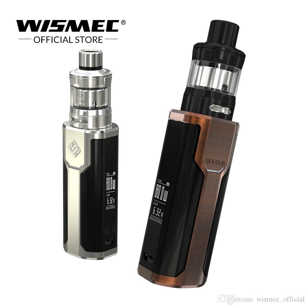 Wismec SINUOUS P80 vape Kits with Elabo Mini Tank 80W Max output Uses  single 18650 battery box mod kit