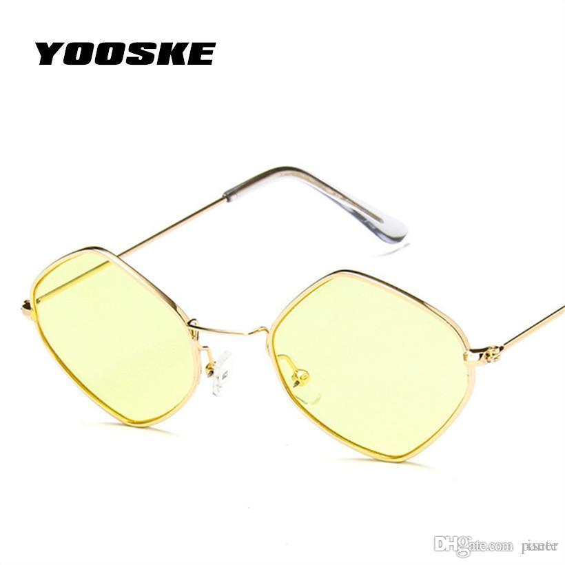 7629bcd75 YOOSKE New Sunglasses Men Women Fashion Square Sunglass Metal Frame  Colorful Lens Sun Glasses Vintage Adult Glasses For Women Oversized  Sunglasses Best ...
