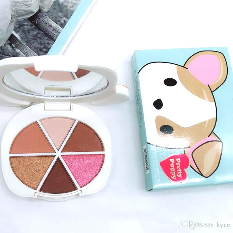 Stock Makeup Palette Pretty Puppy 6 color eyeshadow palette Eye cosmetics Faced palette DHLl shipping