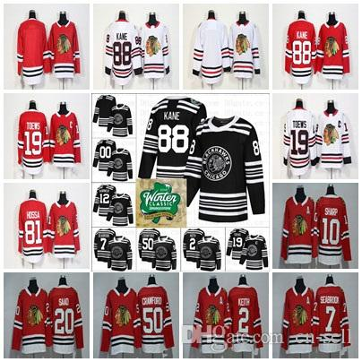 2019 Winter Classic Chicago Blackhawks Hockey 19 Jonathan Toews 88 ... b7fa13c5f