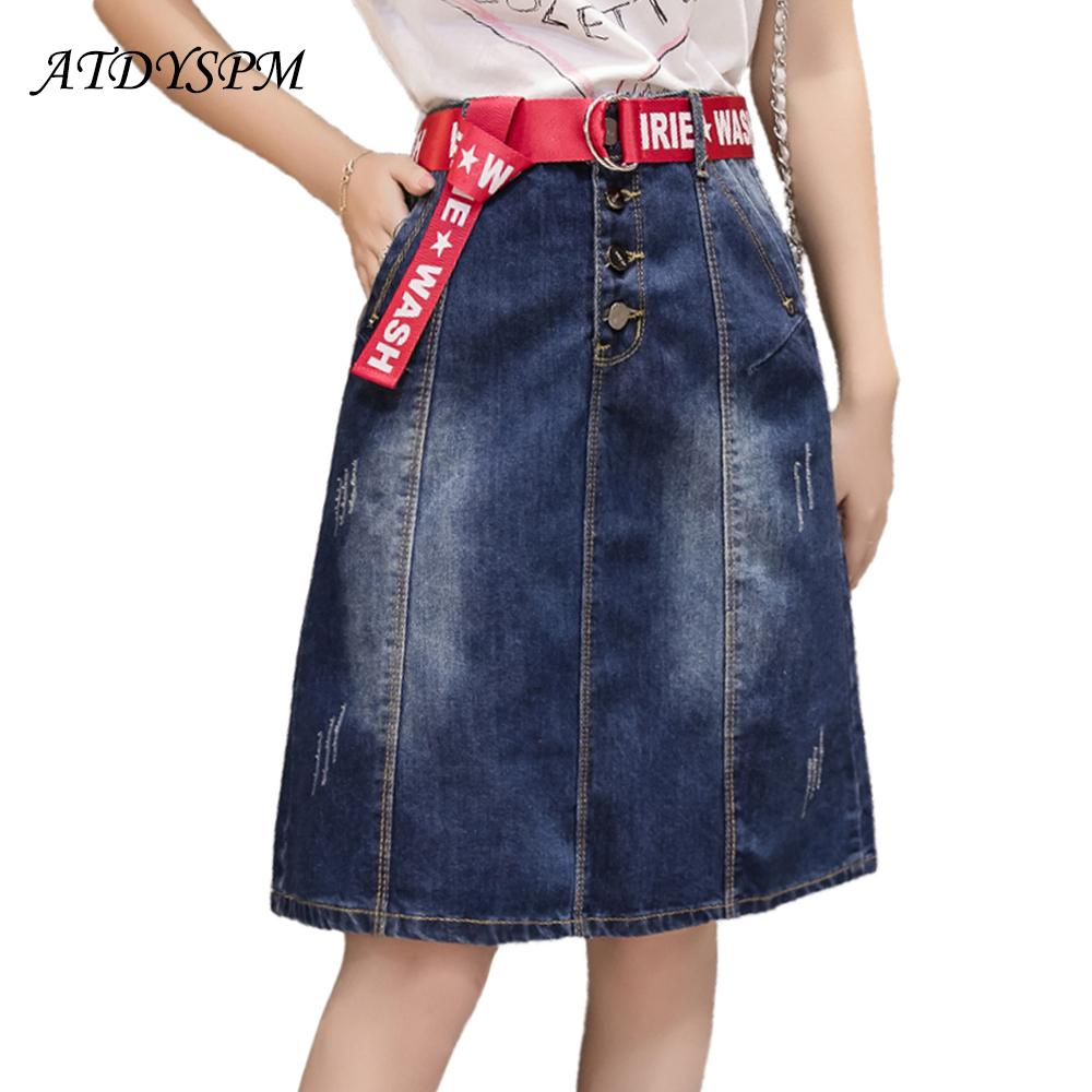 393a7ed20 2019 New Fashion Women Denim Skirts High Quality Brand Casual Skirts High  Waist A Line Jeans Elegant Women Breasted From Chikui