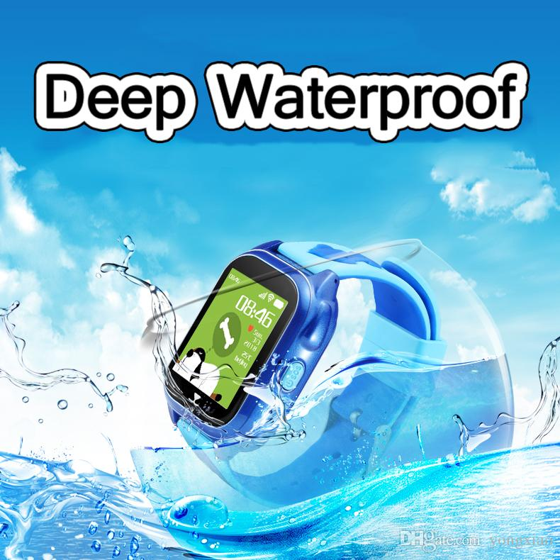 D6 Children Swimming Anti-Lost GPS Smart Watch Kids SOS Call Location  Tracker Wristwatch Baby Safe Guard IP67 Waterproof Color Screen Camera