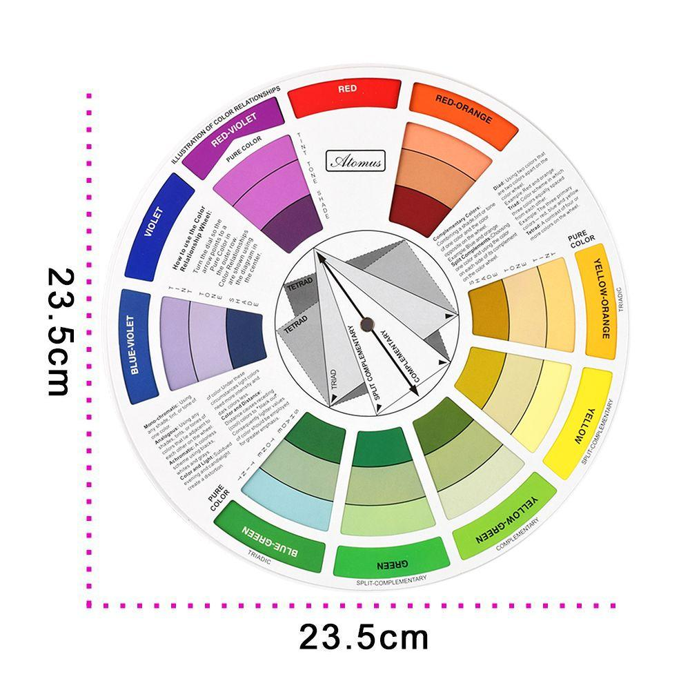 Tattoo Pigment Color Wheel Mix Round Nail Polish Gel Palette Wheel