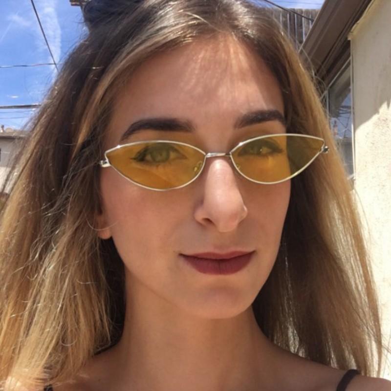 Compre Gafas De Sol Ojo De Gato Para Mujer Gafas De Marco Retro De Metal  Diseñador De La Marca Gafas De Sol Vintage Señoras Gafas De Sol Gafas De  Mujer A ... 2fad92e5b500