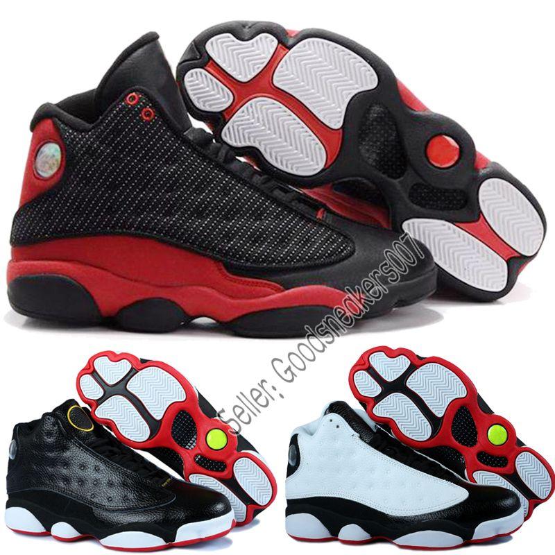 designer fashion c0b05 02175 Venta Caliente De Alta Calidad Nike Air Jordan13 Criado En Chicago  Pedernales Las Mujeres De Los Hombres Zapatos De Baloncesto De 13s Dmp Gris  Dedo De La ...