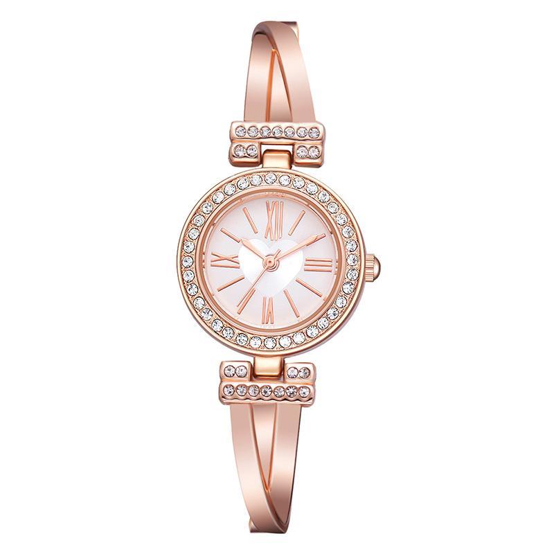 0f799442023e Compre Rhinestone Relojes Marca Mujeres Reloj De Lujo Números Romanos  Relojes De Pulsera De Acero Inoxidable Señoras Reloj De Cuarzo Regalos Reloj  Mujer ...