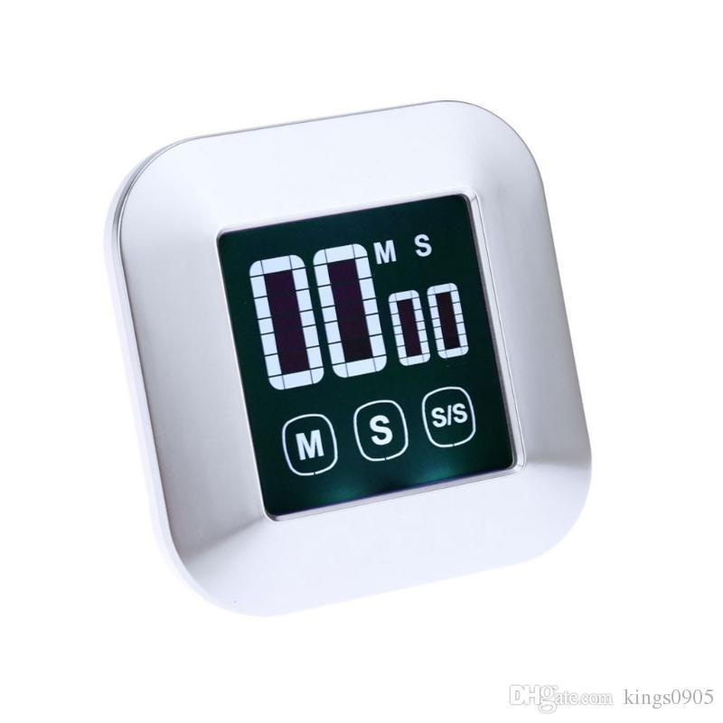 1Pc Timer da cucina Quadrato LCD Touch Screen digitale Pratico strumento  sveglia da cucina