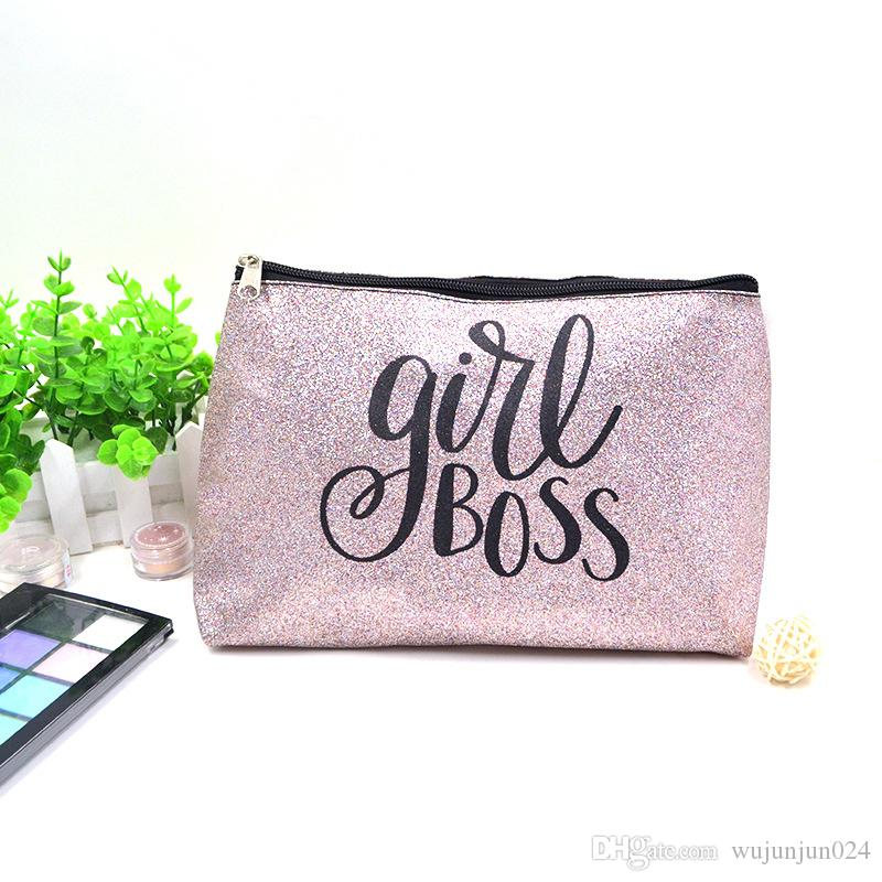 c884bc46c5ef European and Americanr Lovely Simple Bright Powder PVC Lady Makeup Bag  Fashion Travel Package Pouch Travel Toiletry Cosmetic Bag Blosa