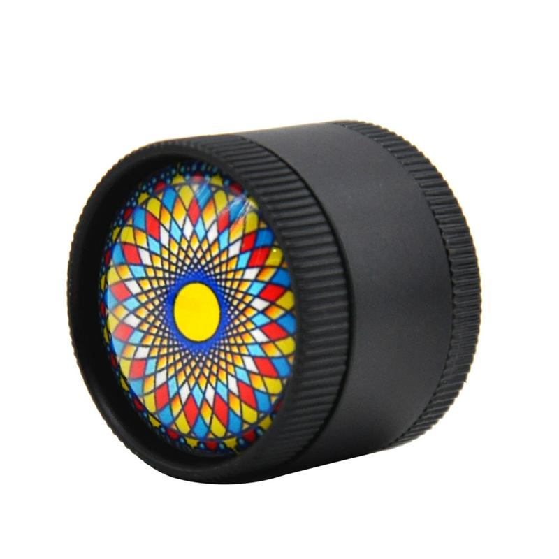 Newest Colorful Pattern Grinder Accessories Pollen Presser Hand Zinc Alloy New Unique Design Easy To Carry Clean High Quality Smoking Pipes