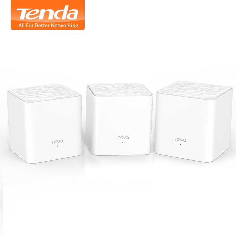 Tenda Nova MW3 AC1200 Dual-Band Wireless Router for Whole Home Wifi Coverage Mesh WiFi System Wireless Bridge, APP Remote Manage