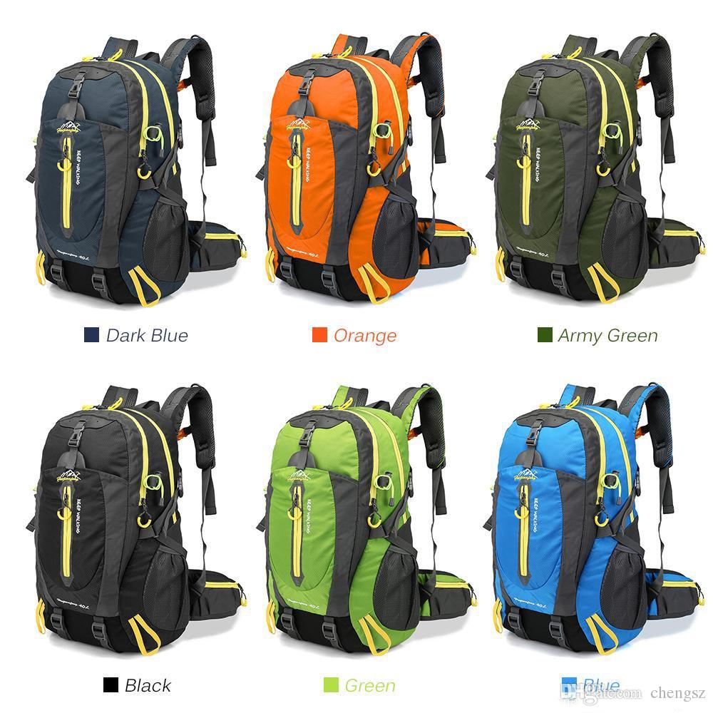 0f2e64f6fe81 Material  Nylon Color  Green   Dark Blue   Black   Orange   Army Green  (Optional) Capacity  40L Weight  Approx. 600g   1.32lb Size  52   33   20cm    20.5 ...
