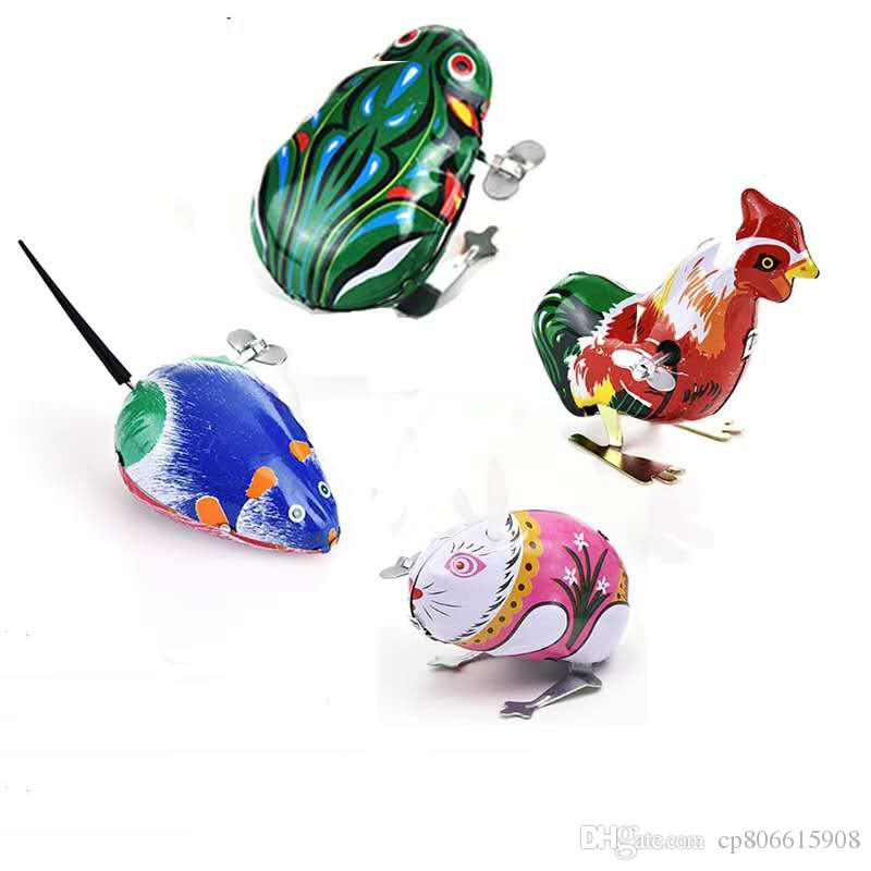 3a1fbe0e7614 New Lovely Vintage Wind Up Lron Toy Jumping Frog Cock Rabbit Wind Up ...
