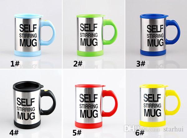 Schaffung automatische elektrische Kaffeetassen-Edelstahl faule trinkende Tasse Drinkware Geschenke mit Kleinpaket 400-500ML WX9-226