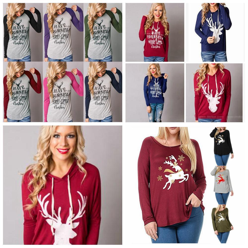 Großhandel 21styles Weihnachten Frauen Casual T Shirt Autum Gedruckt ...