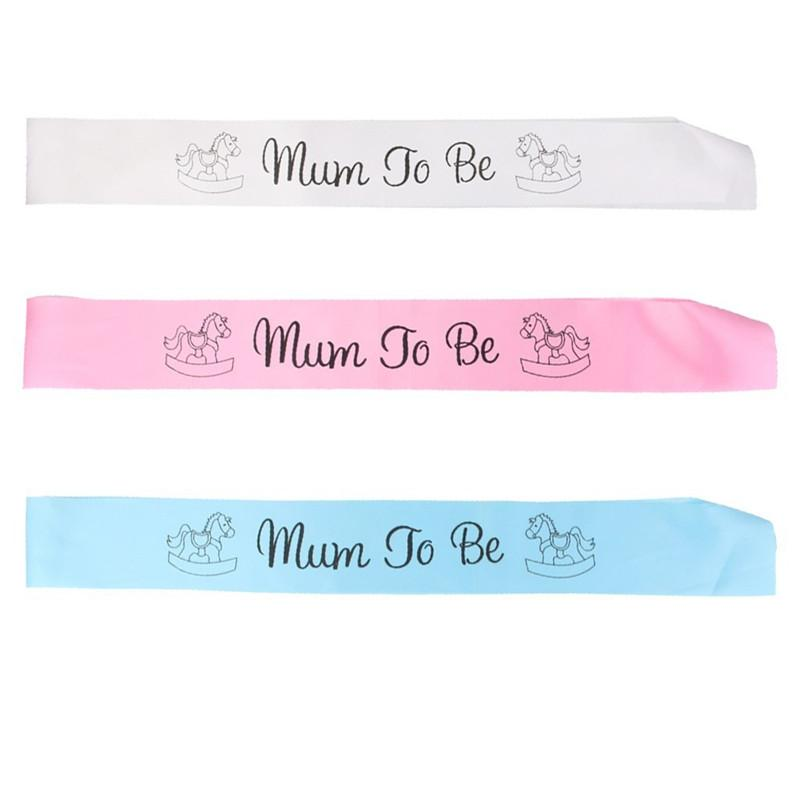 Mum To Be Sash Baby Shower baldric Boy Girl Party Decoration Centerpieces Pink Blue White