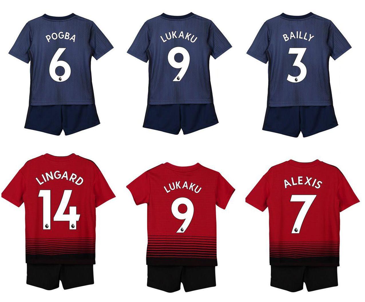 2932d9ad1 2019 2018 2019 Man Utd Kids  6 POGBA  7 ALEXIS Home Away Soccer Jerseys  Youth 18 19 Boys  9 LUKAKU Children Football Uniform Kits From Djohn66