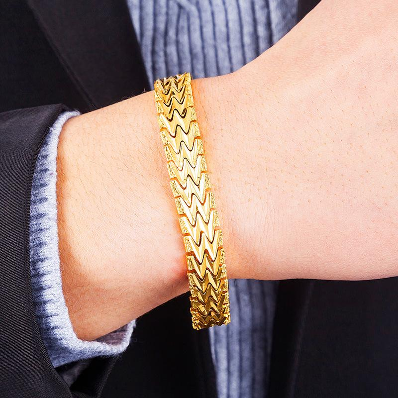 959fad2ea6bc 2019 Jemmin 20CM Geometric 24K Gold High Quality Fashion Elegant Men  Bracelets Jewelry Party Anniversary Gift From Vineer