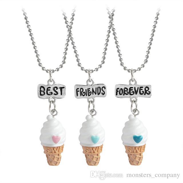 Cute 2.7*1.3cm BBF Best Friends Forever Ice-Cream Pendant Kids ...