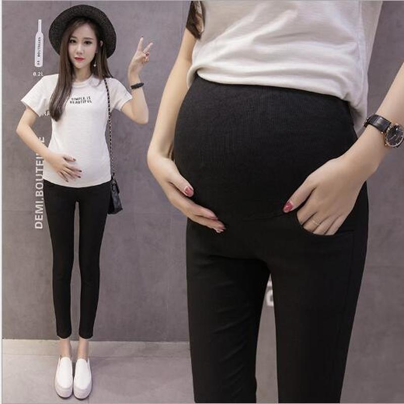 Acheter Mode Maternité Vêtements Grossesse Mère Cadeau Sport Fitness Leggings  Femme Enceinte Noir Blanc Taille Haute Élastique Pantalon De  38.46 Du  Xunqian ... 2ddff1a9575