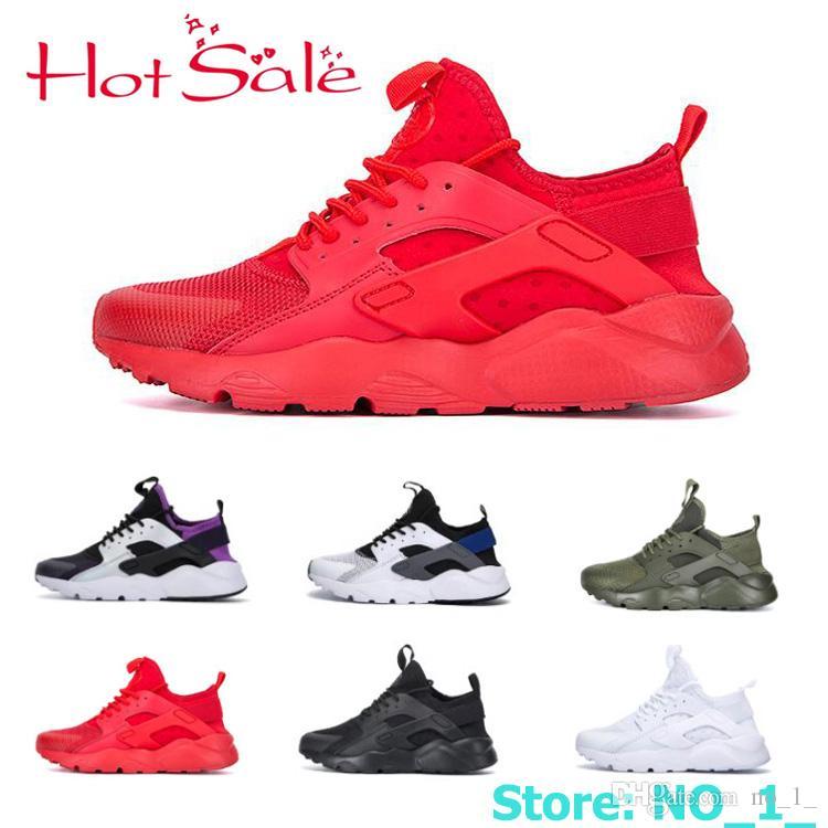 2a755e8a5ab8 Compre 2019 Air Huarache 4 Homens Todos Branco Preto Mulheres Huraches 3  Zapatos Ultra Respirar Huaraches Mens Sneakers Hurache Vermelho 2 Calçados  Casuais ...